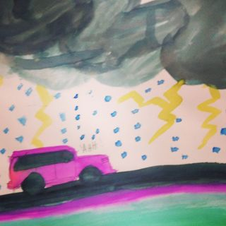 Pink car lightning
