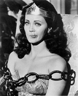 Wonder Woman in chains