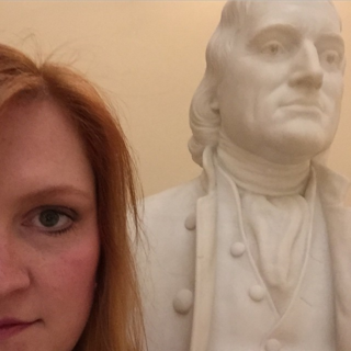 Selfie with Button Gwinnett at the Georgia State Capitol